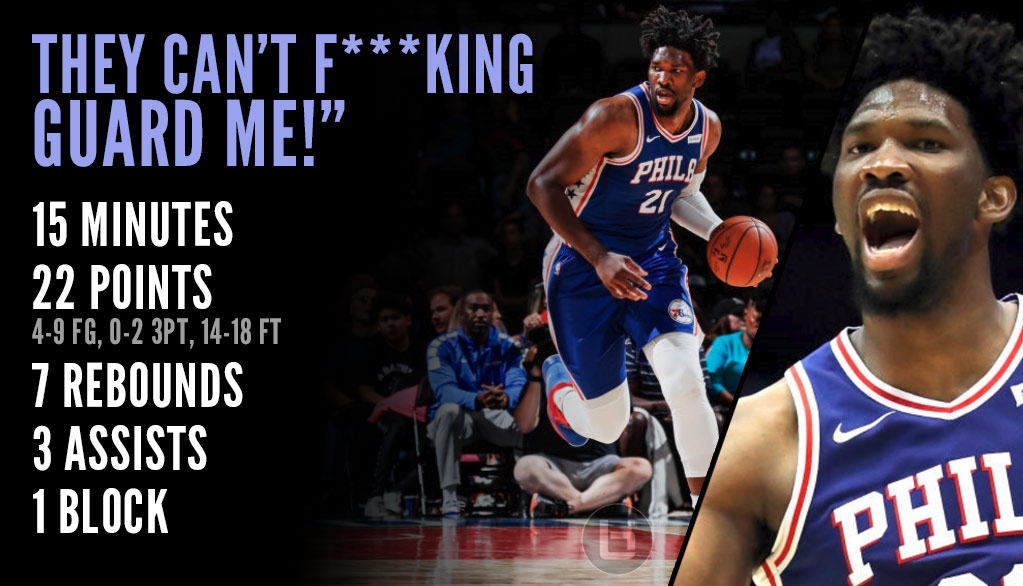 Joel Embiid Dominates Nets In Debut & Lets Them Know About It