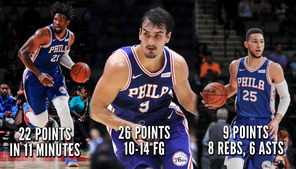 Full Highlights of the Philly FEDS (Minus The F): Embiid, Dario & Simmons!