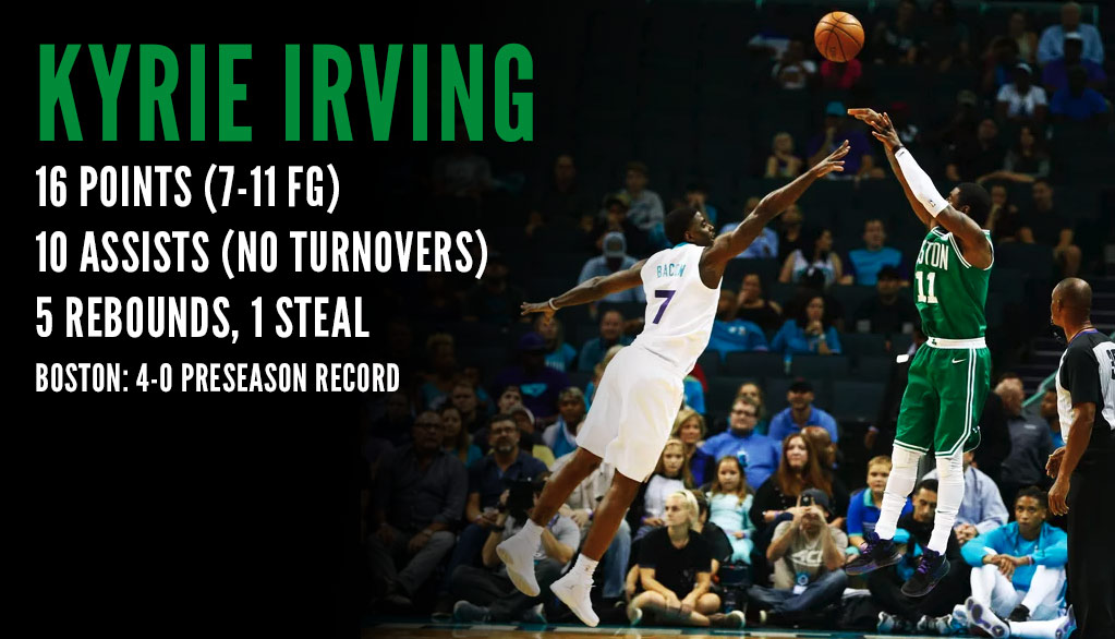 Kyrie Irving Sick Handles, 16 Points, 10 Assists & No Turnovers vs Hornets!