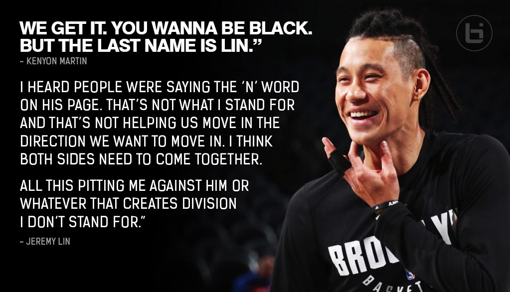 """Jeremy Lin Responds To Kenyon Martin's """"Wanna Be Black"""" Comments, Asks Fans Not To Pit Them Against Each Other"""