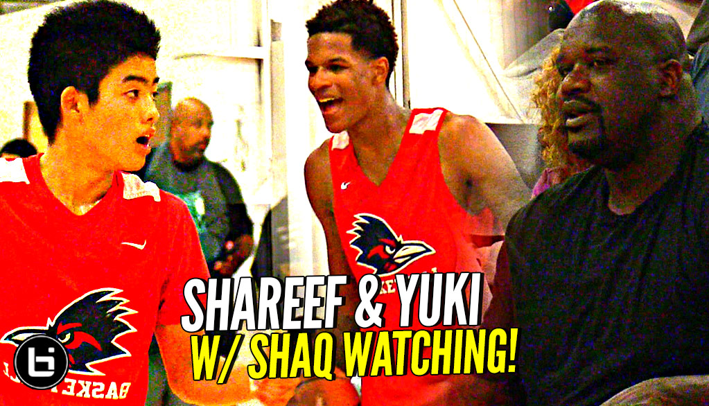 Shareef O'Neal & Yuuki Okubo DON'T BACK DOWN w/ Shaq Watching!! Crossroads vs Damien Full Highlights