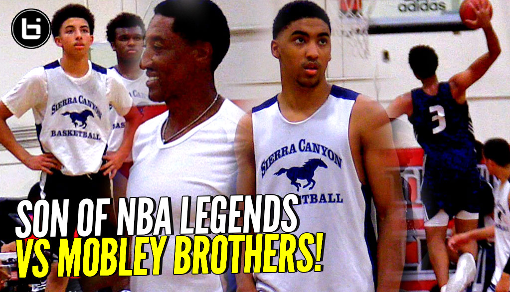 Scotty Pippen Jr, Kenyon Martin Jr, Cassius Stanley vs Mobley Brothers!! OT THRILLER!