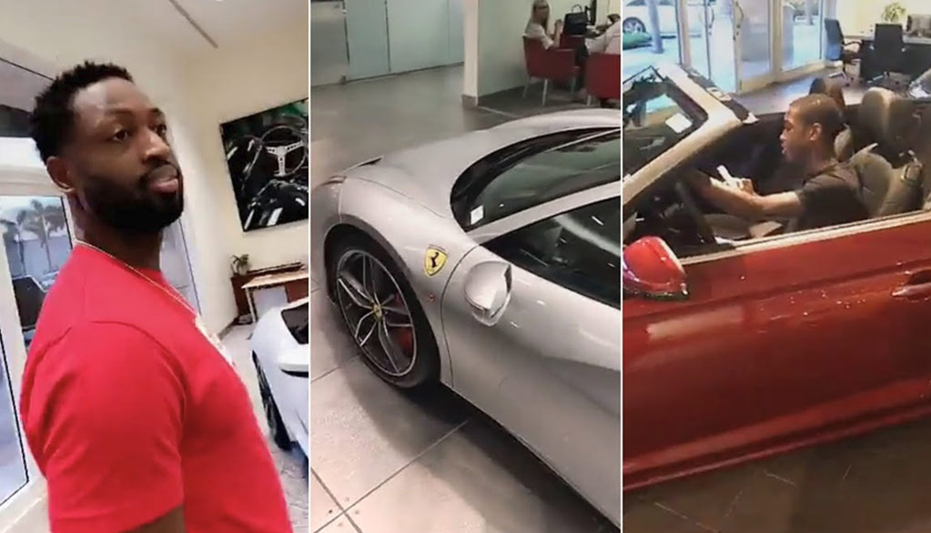 Dwyane Wade Car Shopping With 15-Year-Old Son Zaire