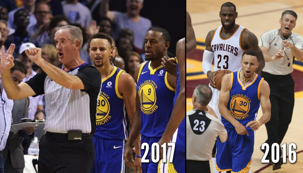 Steph Curry's Mouthpiece Throws: 2016 vs 2017