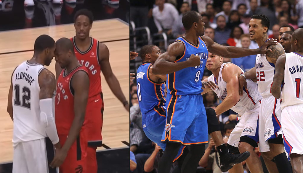 LaMarcus Aldridge's Altercation With Serge Ibaka Gives Us An Excuse To Revisit The Ibaka/Barnes Fight!