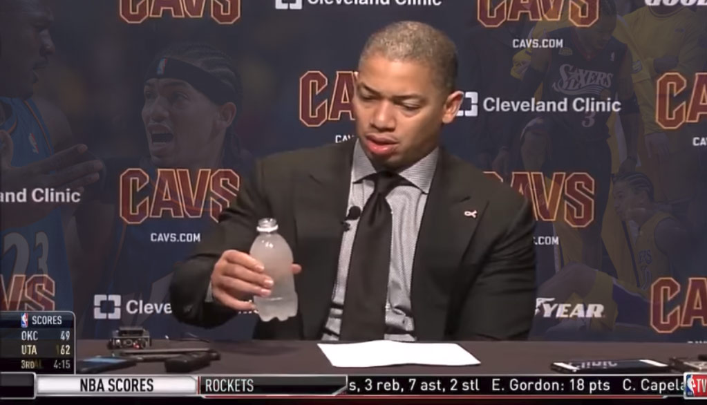 Tyronn Lue Vs A Frozen Water Bottle