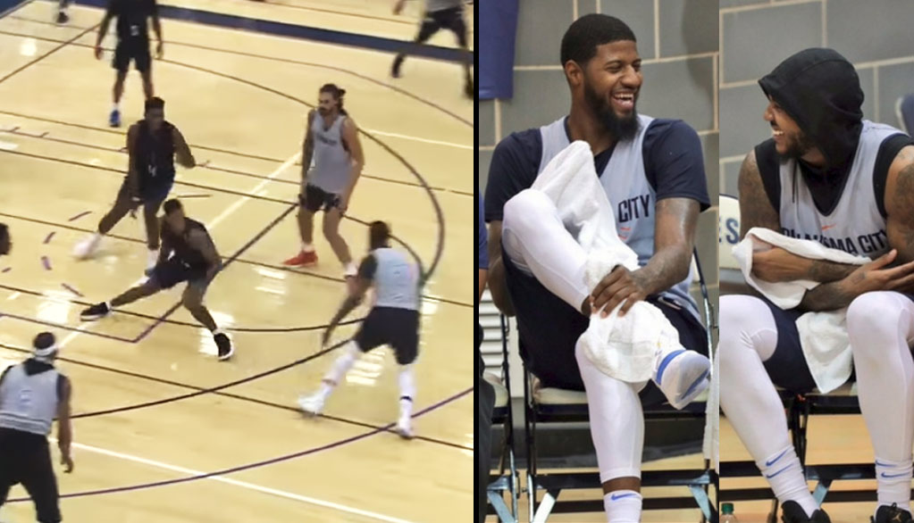 Paul George Breaking Ankles & Dominating The OKC Thunder Blue & White Scrimmage