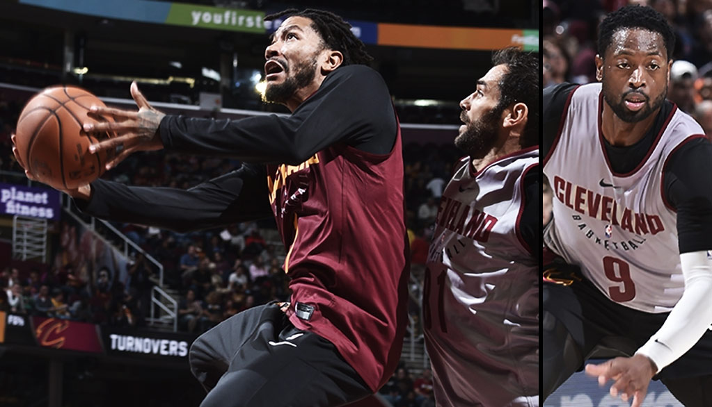Derrick Rose & Dwyane Wade Full Highlights At Cavs Wine & Gold Scrimmage
