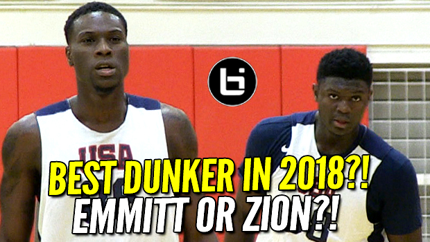 Zion Williamson, Emmitt Williams! 2018's Best Dunkers! USA Basketball Highlights!