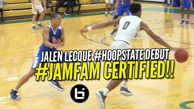 Jalen Lecque Debuts #JamFam in the #HoopState at Phenom Showcase!!