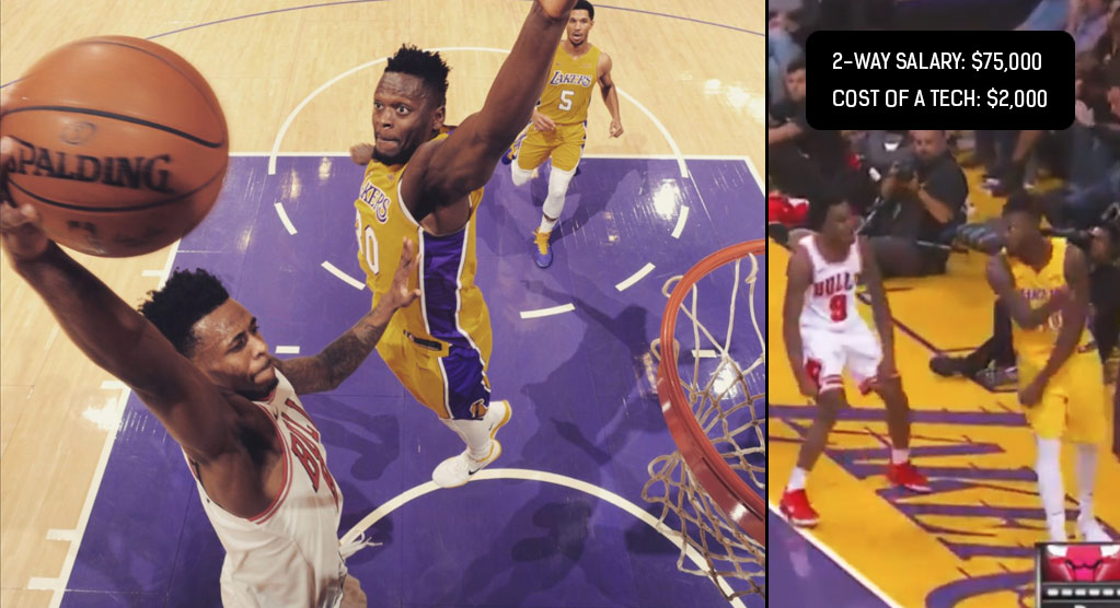 Undrafted Antonio Blakeney Scores 15 In 8 Minutes, Gets Tech After Dunking On Julius Randle
