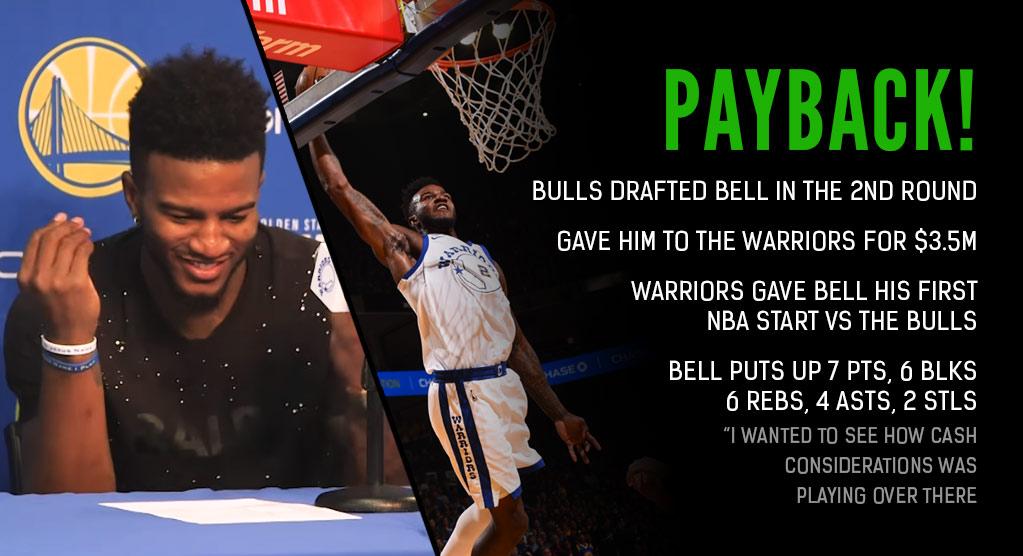 Best Moments From Jordan Bell's Payback Game vs The Bulls