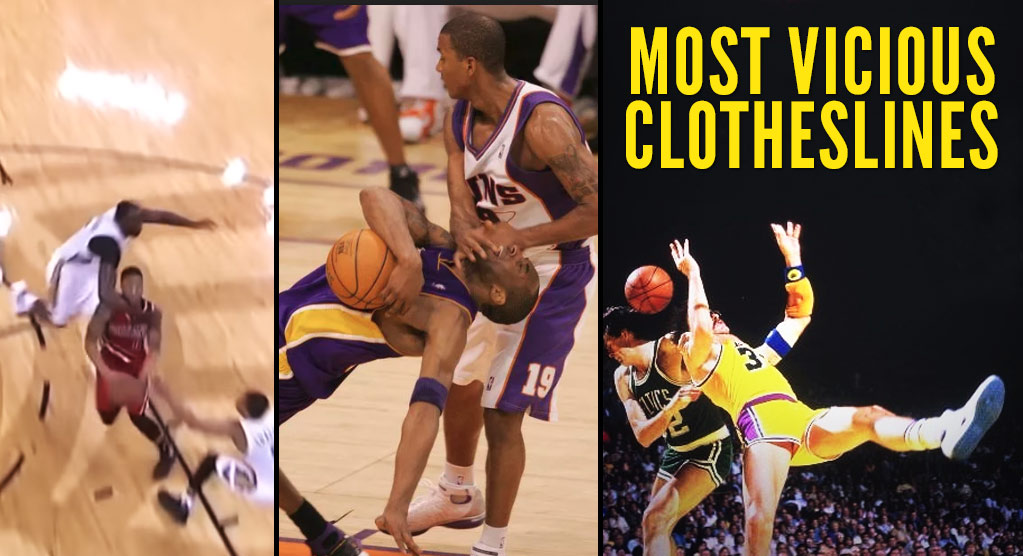 The Most Vicious Clotheslines In NBA History