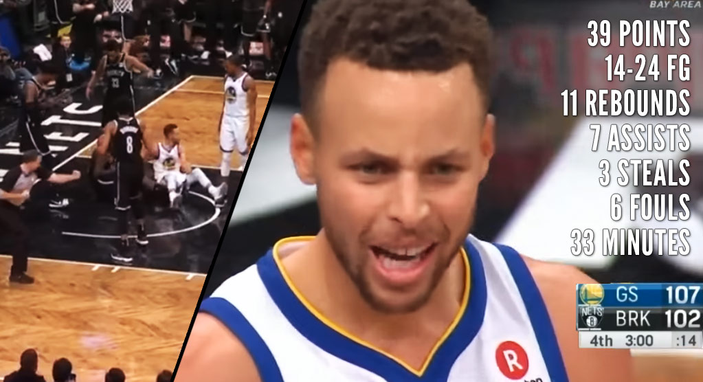 Steph Curry's Hot Night in Brooklyn Ended Early Thanks To Whistle-Happy Refs