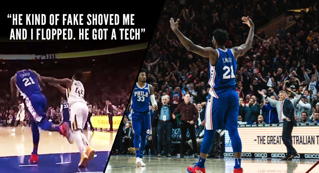 Joel Embiid & Coach Brown Talk About The Hilarious Flop & Technical Sequence With Donovan Mitchell