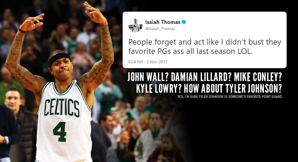 "Here's Video Proof Isaiah Thomas ""Busted Your Favorite PG's Ass"