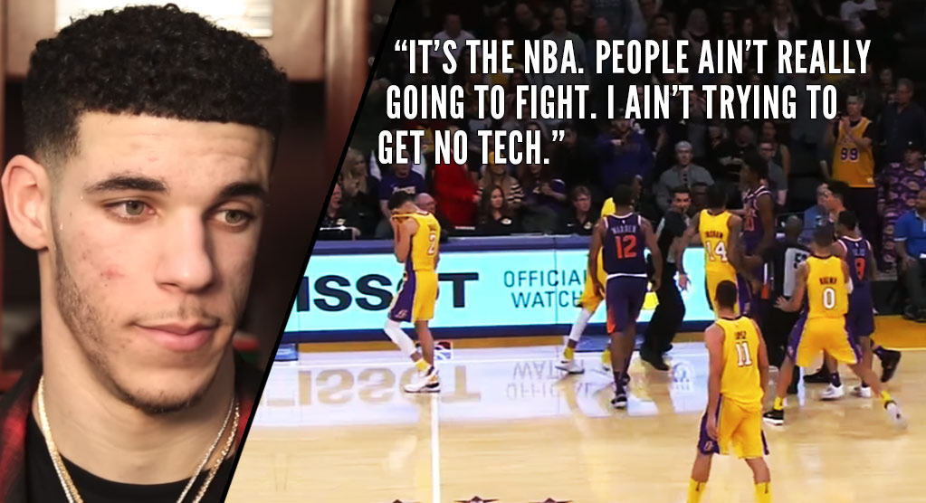 Lonzo Ball on Viral Video of Him Walking Away From Teammate's Scuffle With 5'9″ Tyler Ulis