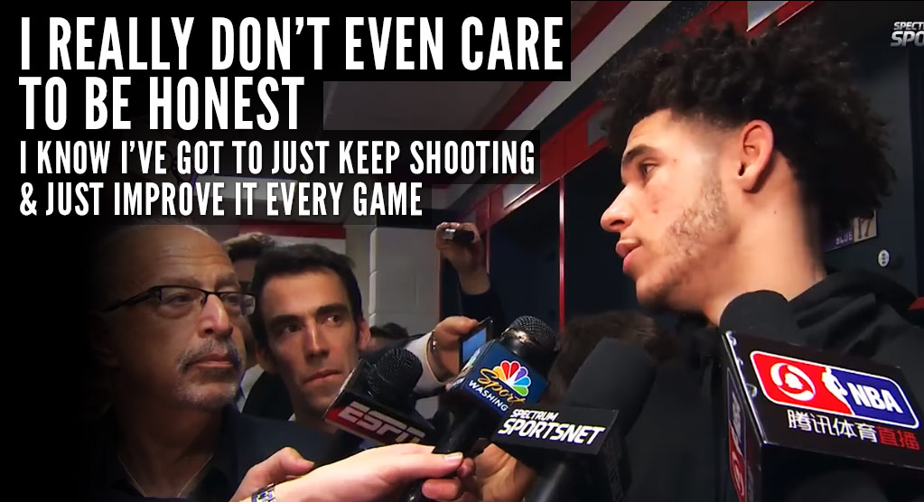 Lonzo Ball Doesn't Care What You Think Of His Shooting