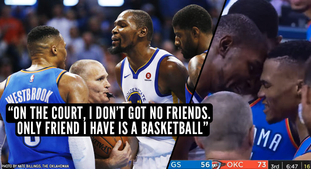 "Russell Westbrook Says, ""Only Friend I Have Is A Basketball"" After Heated Win Vs Durant & The Warriors"