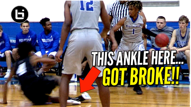 HIS ANKLE GOT BROKE! Student Section Almost Rushes Court! Midlothian Vs Denton Guyer Full Highlights