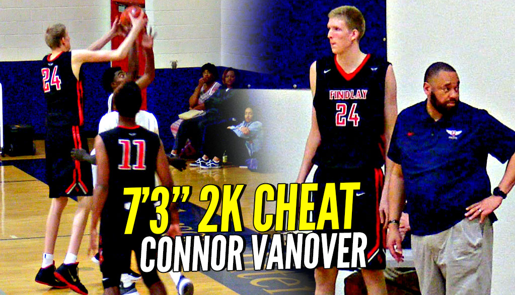 7'3 Connor Vanover Is a 2K CHEAT CODE My Player! He Can SHOOT TOO!! Findlay vs AZ Compass Highlights