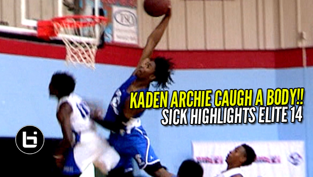 Kaden Archie Caught A Body!!  Elite 14 Showcase Raw Highlights