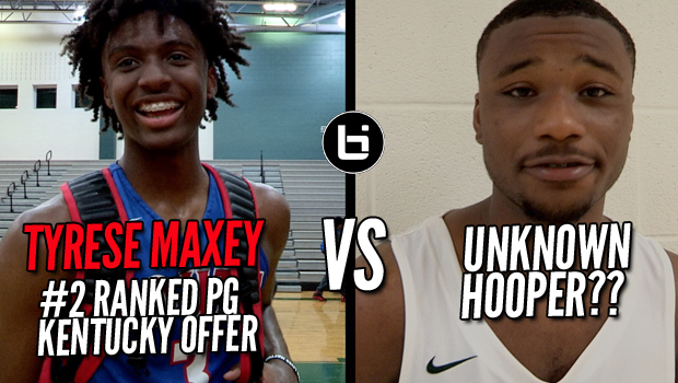 TYRESE MAXEY VS UNKNOWN HOOPER!!! Lit Game in Season Opener!