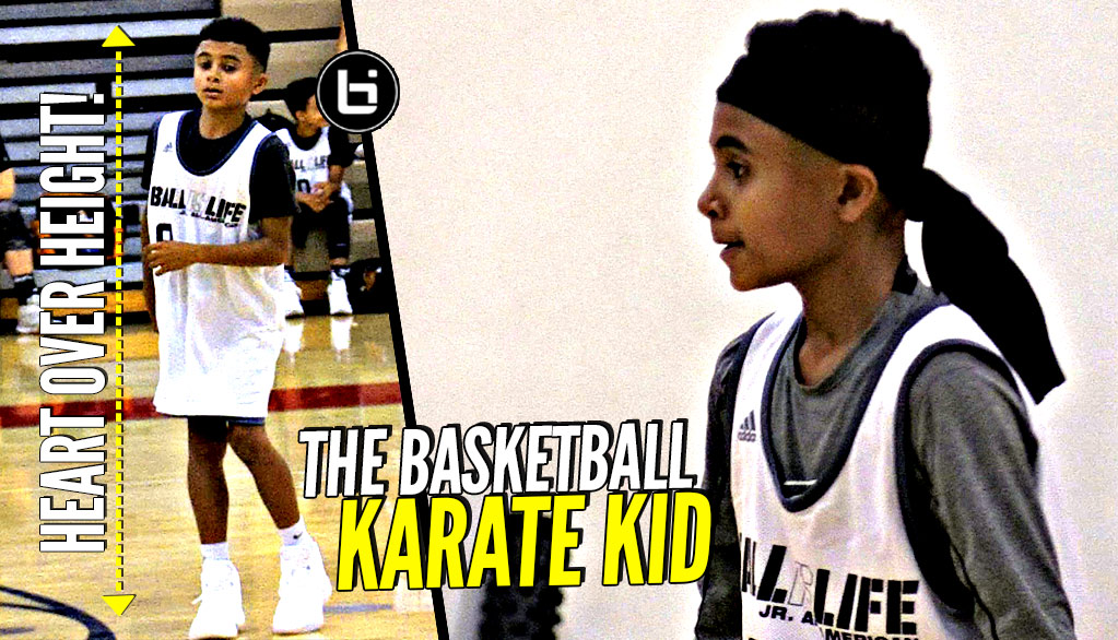 "4'11"" Omarion Casher HEART OVER HEIGHT! ""Karate Kid"" GETTING BUCKETS at Ballislife Jr AA Camp!"