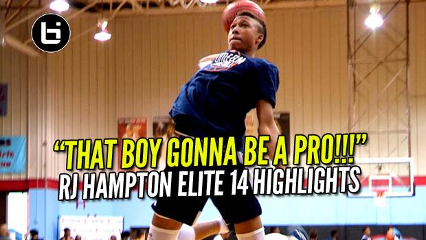 """That Boy Gonna Be A PRO!"" #1 Sophomore PG RJ Hampton Elite 14 Showcase Highlights"