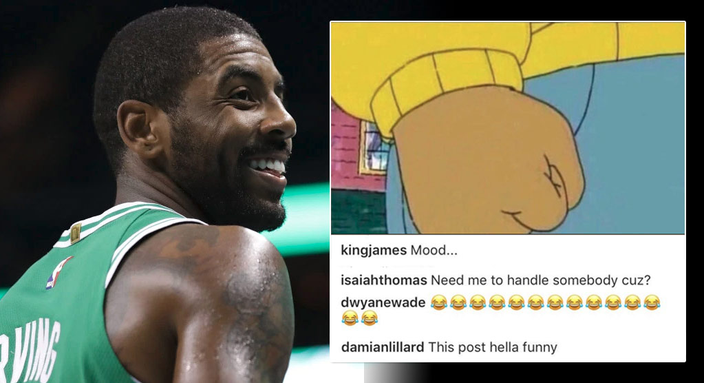 "Was LeBron's Angry Arthur Meme A Response To Kyrie Irving's ""MVP"" Performance Vs The Hawks?"