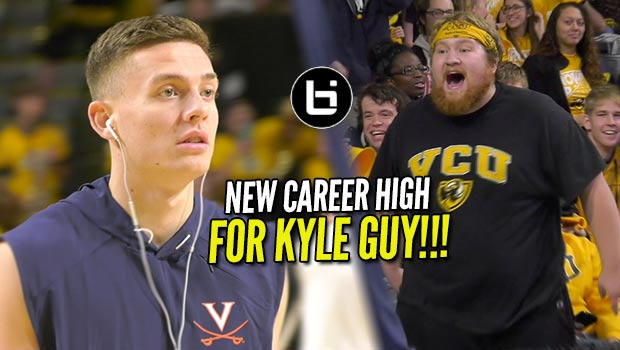"Kyle Guy (UVA) Called ""Trash"" by Heckler & Responds with Career High!!!"