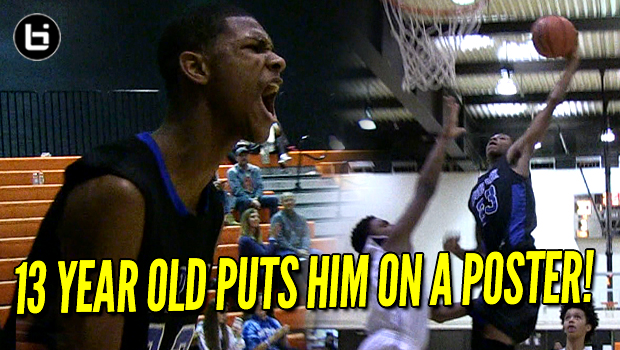 13 Year Old Posterizes Defender! 6'7 AJ Casey Plays Every Position in Comeback!