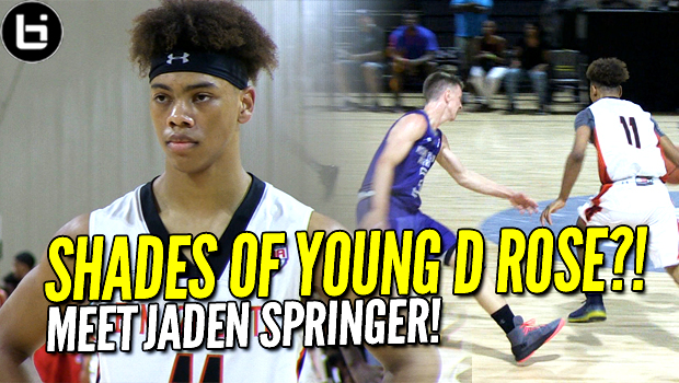 Like a Young D Rose? Jaden Springer about to Take Off!