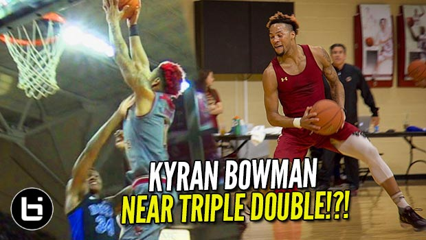 Kyran Bowman Utilizing Practice to Drop 30/10/9 on #1 Duke: future NBA DPOY?!?