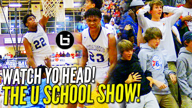 """WATCH YO HEAD!"" No. 1 Junior Vernon Carey Jr. & Trey Doomes TAKES OFF at #TheJohnWall!"