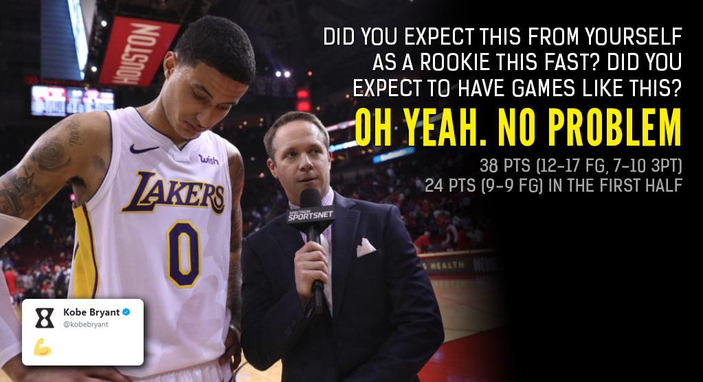 Kobe Mentality: Rookie Kyle Kuzma Isn't Impressed By His Career-High 38