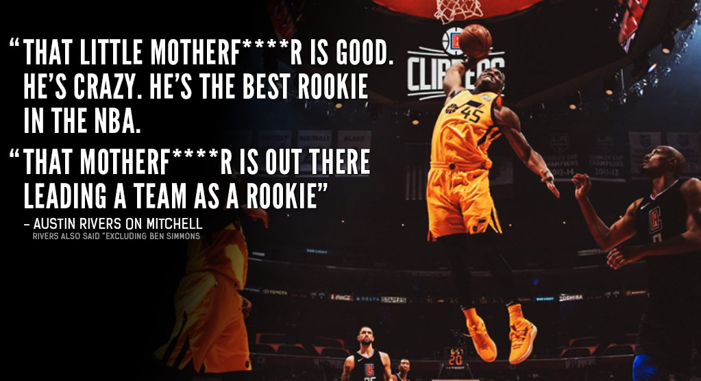 "Austin Rivers Raves About Donovan Mitchell, Calls That MF ""The Best Rookie In The NBA"""