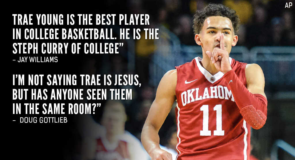 The Internet Reacts To Trae Young's Curry-Like Performance vs Wichita State
