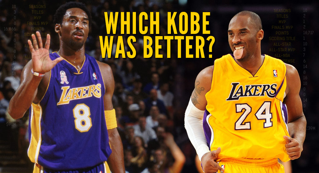 Which Kobe Bryant was better (and cooler): No. 8 or No. 24?