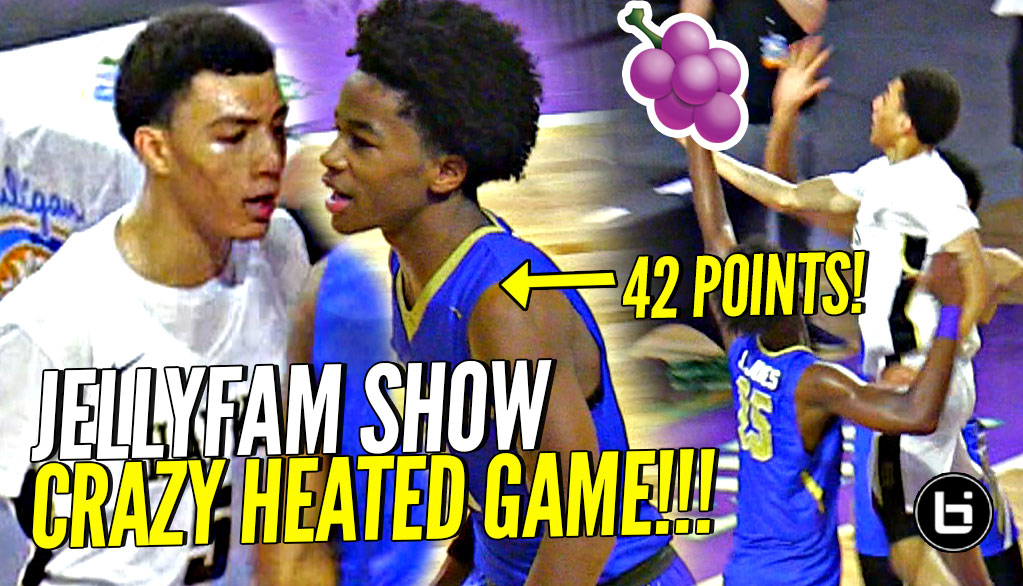 4852641828ce Sharife Cooper 42 POINTS   CRAZY OT BUZZER BEATER GAME vs JELLYFAM Jahvon  Quinerly ...
