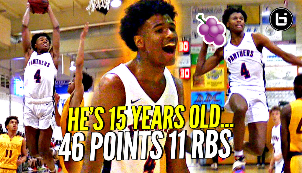 It's Gotta Be The Shorts! 15 Y/O Jalen Green SPAZZES OUT w/ 46 POINTS Against TOUGH Cali Team!