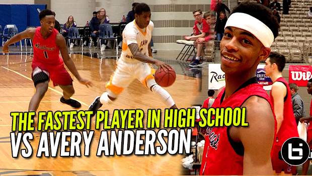FASTEST PLAYER IN HIGH SCHOOL VS AVERY ANDERSON! Ballislife Full Highlights!