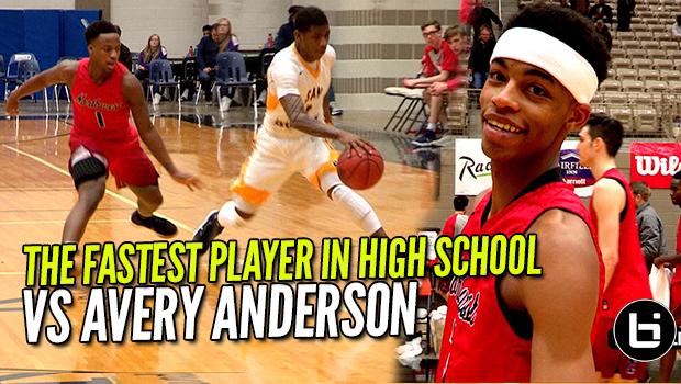 FASTEST PLAYER IN HIGH SCHOOL VS AVERY ANDERSON! Ballislife Full Highlights!
