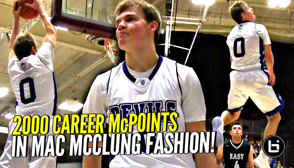 Mac McClung WILDIN! Scores 2000 Career Points IN MAC MCCLUNG FASHION!!