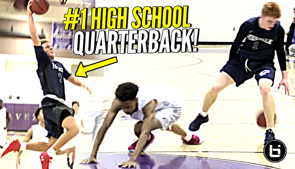 Nico Mannion DROPS Defender!! Getting BUCKETS w/ #1 High School QB In 2019 Spencer Rattler!!