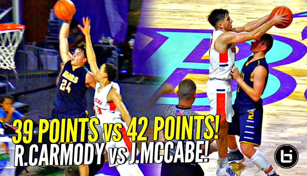 Jordan McCabe CRAZY 42 POINT GAME vs Robby Carmody's 39! The SAUCIEST HANDLES IN HIGH SCHOOL!
