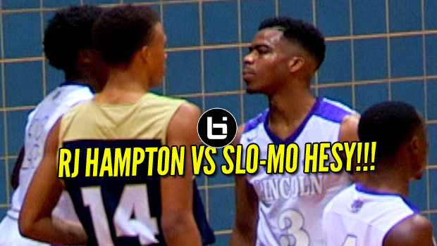 RJ HAMPTON VS SLO-MO HESY! Guard Battle At Chris Bosh Hoopfest