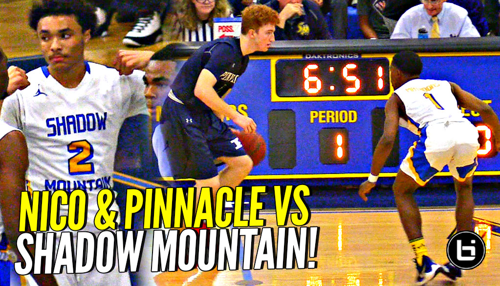 Nico Mannion & Pinnacle Meet Shadow Mountain's DEFENSE!! Pinnacle Puts UP a FIGHT But Snatch Bros Too Much!!!