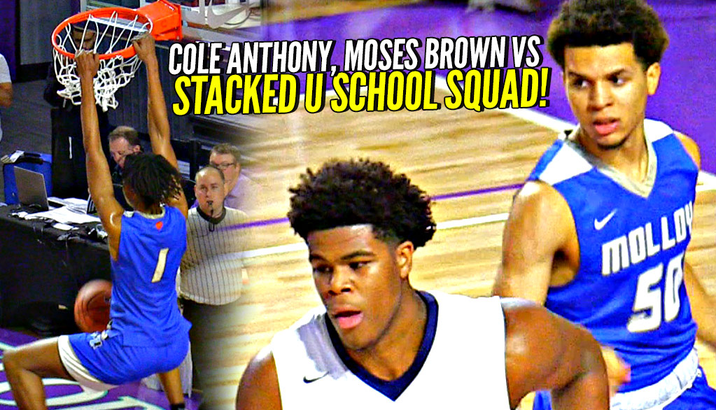 #1 PG Cole Anthony, #1 C Moses Brown vs #1 PF Vernon Carey Jr, Scottie Barnes & STACKED U SCHOOL Squad @cityofpalmsbkb! http://ballislife.com/?p=152451