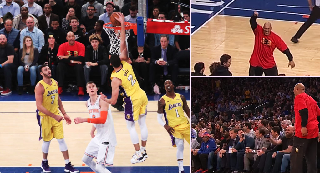 Lonzo Ball Impresses In His MSG Debut In Front of LaVar & Spike Lee